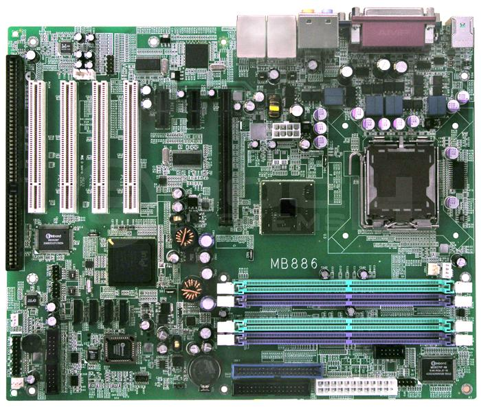 PC industrial MB886F-R PCIe + PCI + ISA