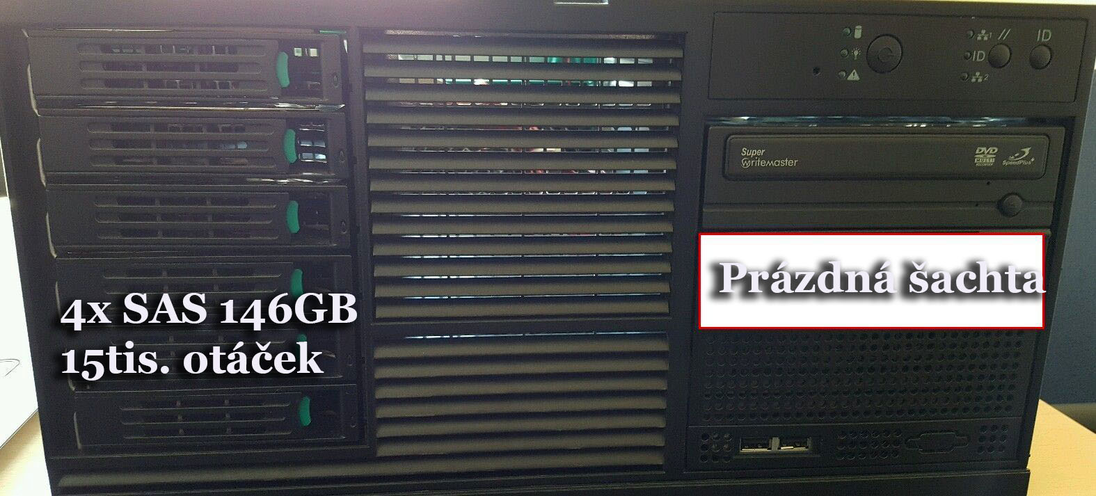 DUAL XEON server / 10GB RAM / 4xSAS